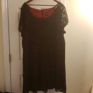 Red and Black lace torrid dress size 24